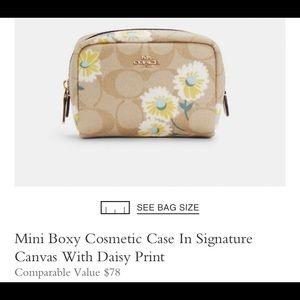 NWT Coach Daisy Print Cosmetic Case